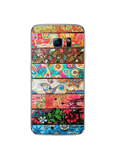 People's Cover Samsung S6 Edge Kabartmalı Telefon Kılıfı Renkli